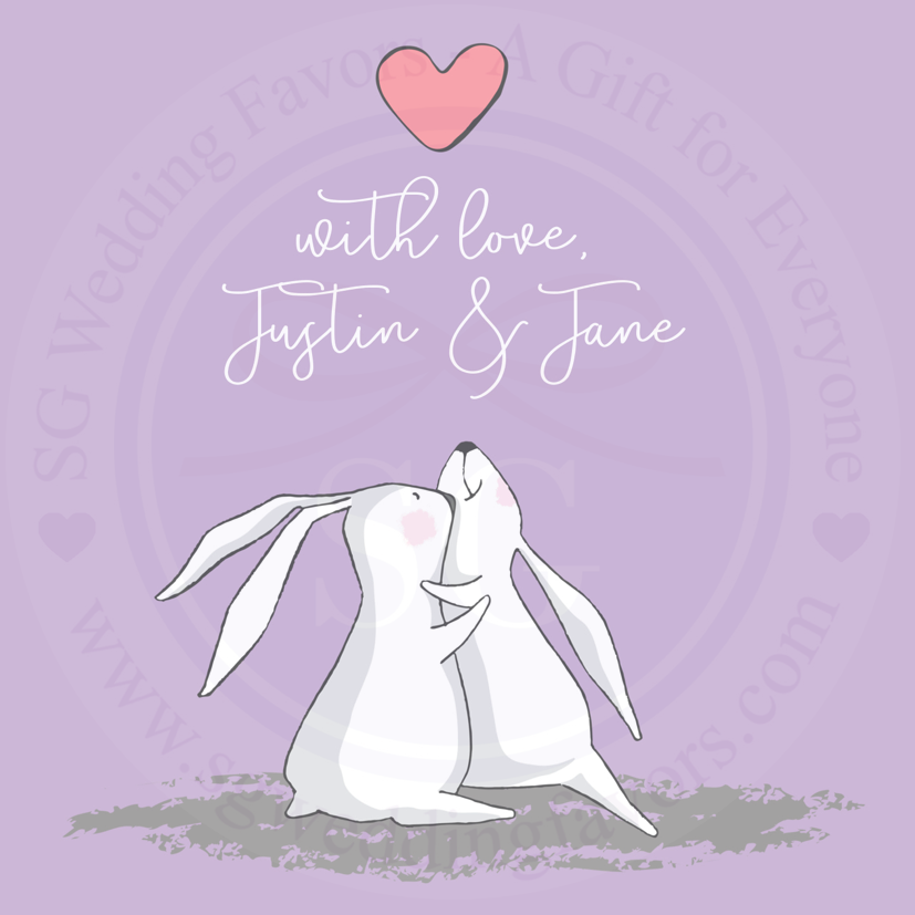 Rabbit Couple Tags/Stickers