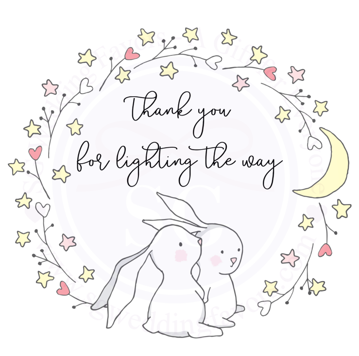 Rabbit Star Wreath Tags/Stickers
