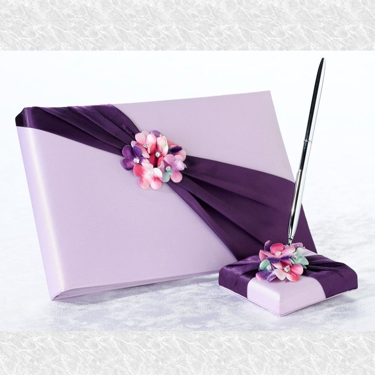 Radiant Flower Guestbook and Pen Set