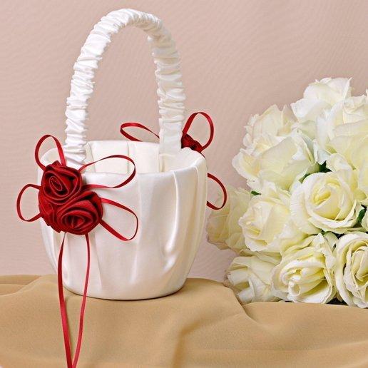 Red Rose Flower Basket