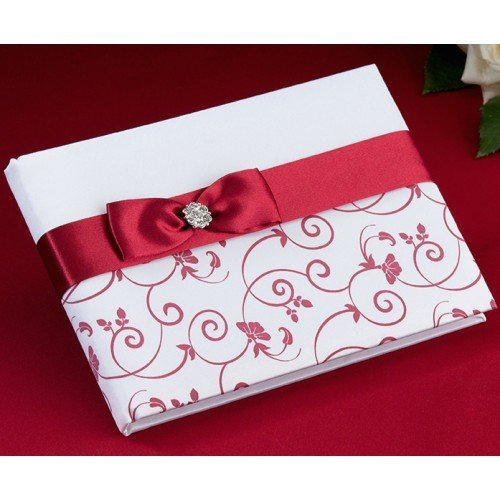 Red & White Guestbook