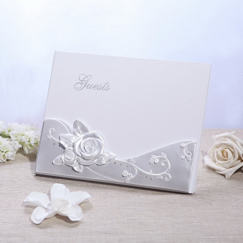 Romantic Rose Guestbook