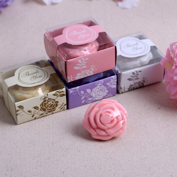 Romantic Rose Soap Favors