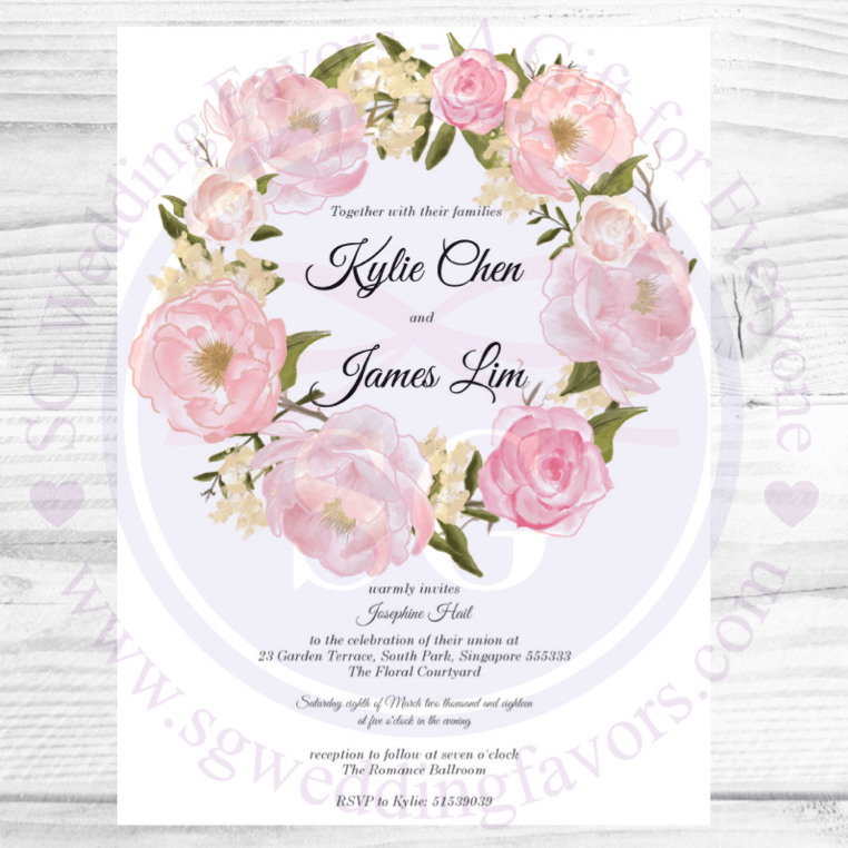 Romantic Wreath Invite