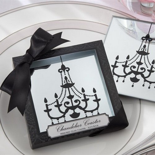Royal Mirror Chandelier Coasters Favors