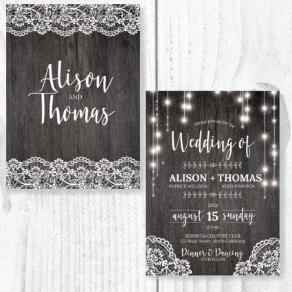 Rustic Theme Invite