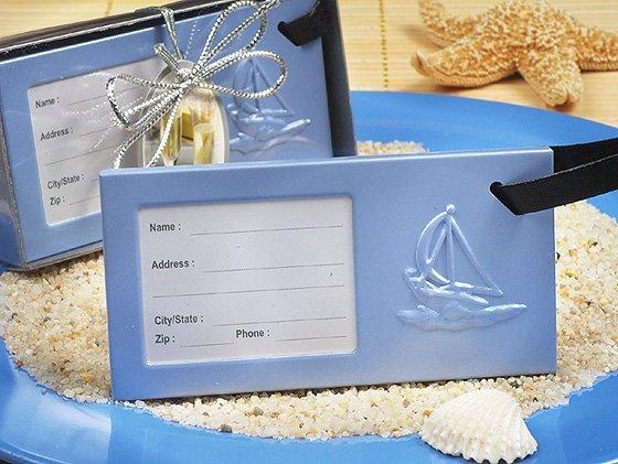 Sailboat Design Luggage Tag Favors