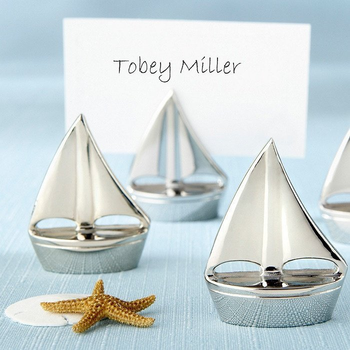 Sailboat Place Card Holder Favors