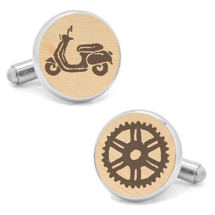 Scooter and Bikes Cufflinks