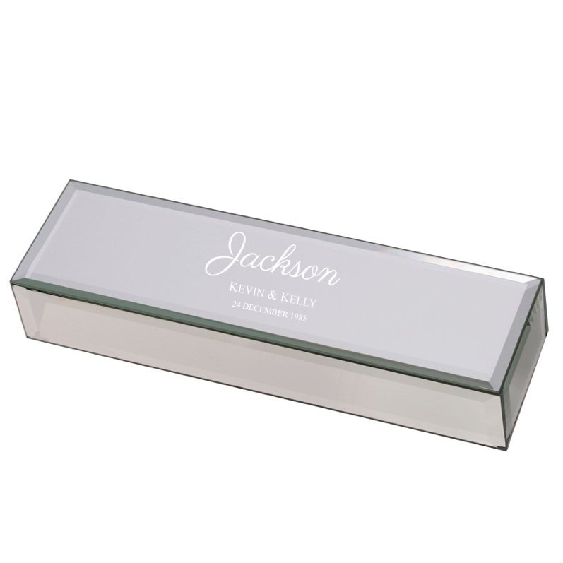 Mirrored Marriage Certificate Box