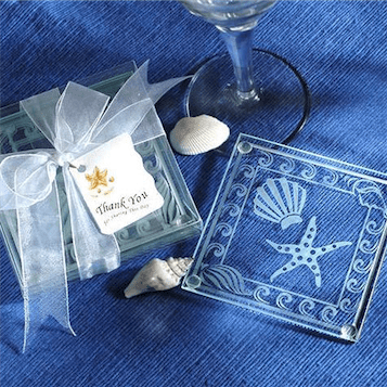 Shell & Starfish Coasters Favors