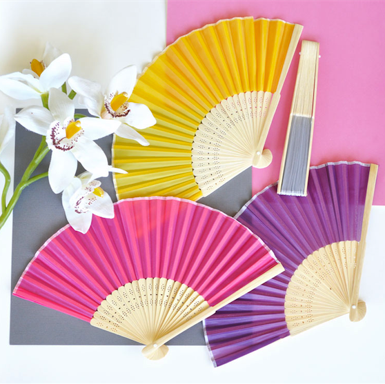 Silk Fan Favors