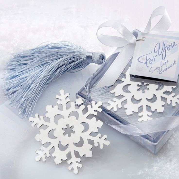Snowflake Bookmarks Favors