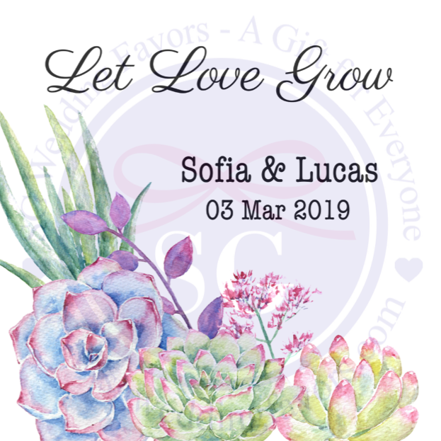 Succulent Tags/Stickers