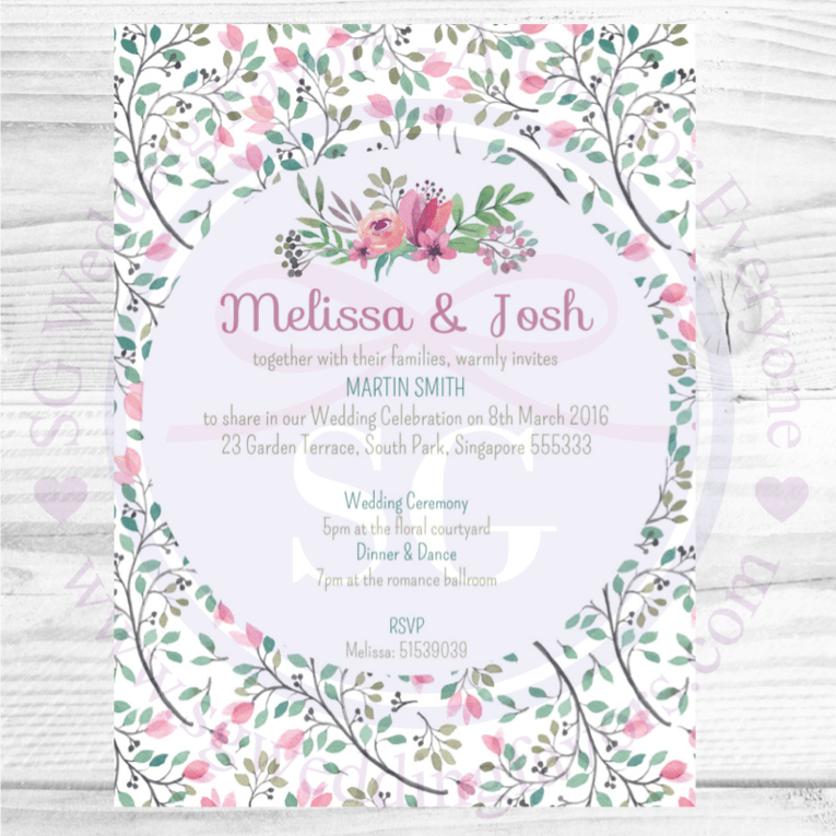 Sweet Floral Invite
