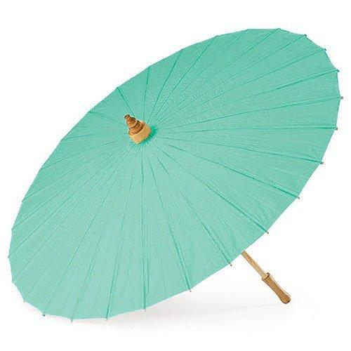 Teal Paper Parasol