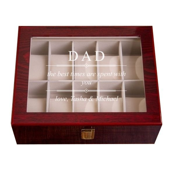 Timeless Message Mahogany Watch Box - 10 Slots