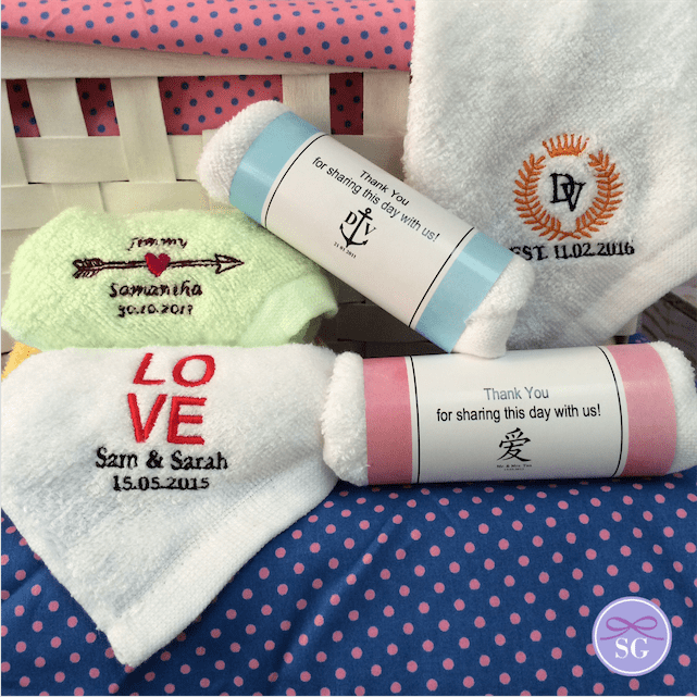 Embroidered Towel Favors