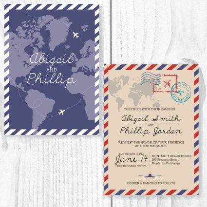Travel Theme Invite