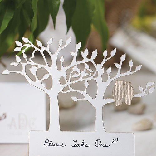 Tree Silhouette Owl Card - Beige