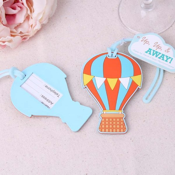 """Up, Up & Away"" Hot Air Balloon Luggage Tags"