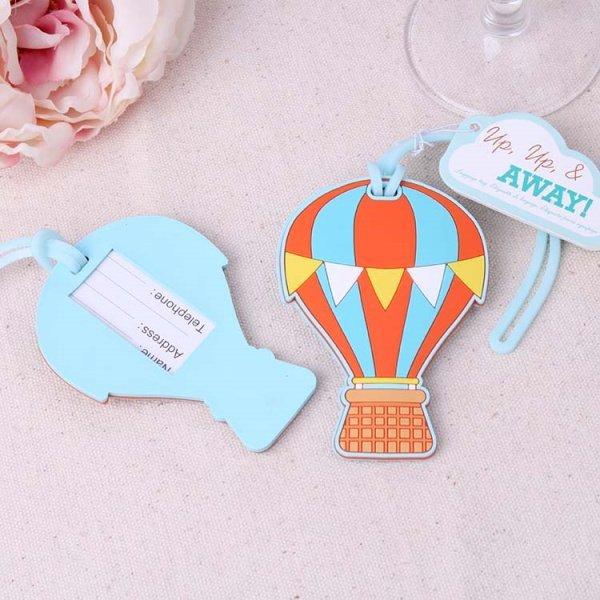 """Up, Up & Away"" Hot Air Balloon Luggage Tags"