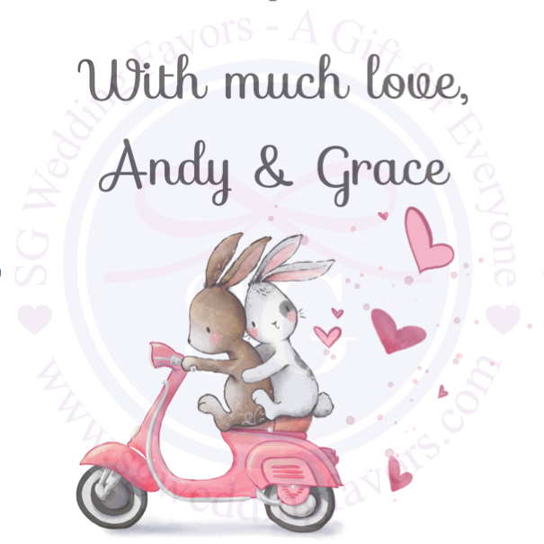 Vespa Love Bunny Tags/Stickers