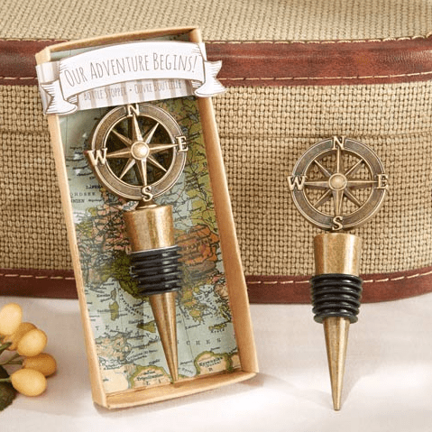 Vintage Compass Wine Stopper