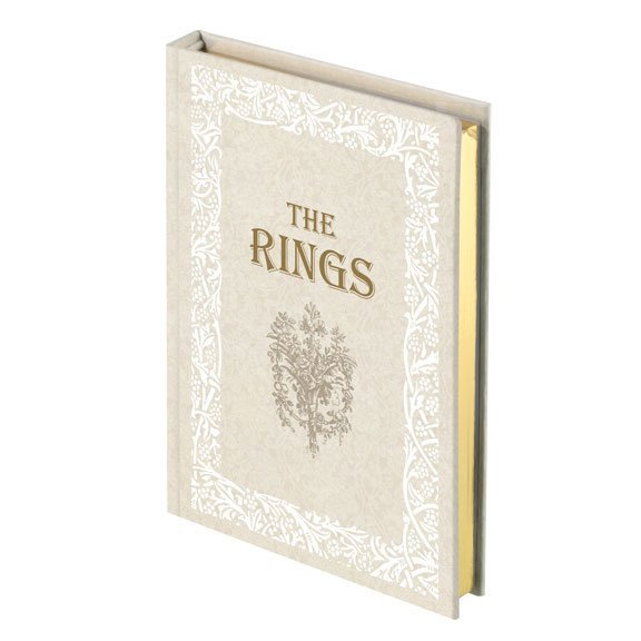 Vintage Ivory Rings Book Box