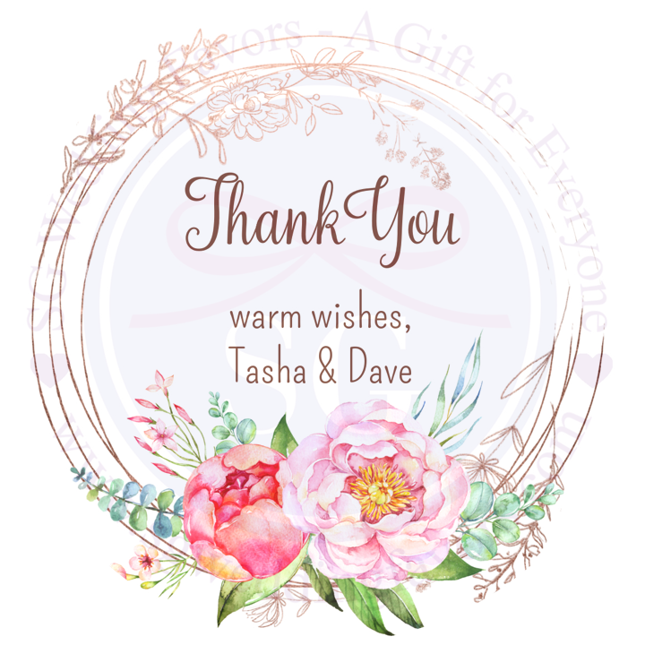 Warm Wishes Floral Tags/Stickers