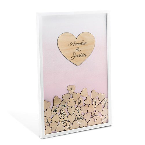 Wedding Heart Drop Box Guestbook