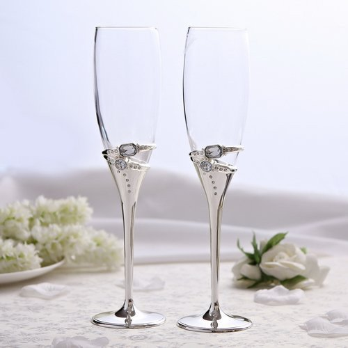 Wedding Ring Toasting Glass Set