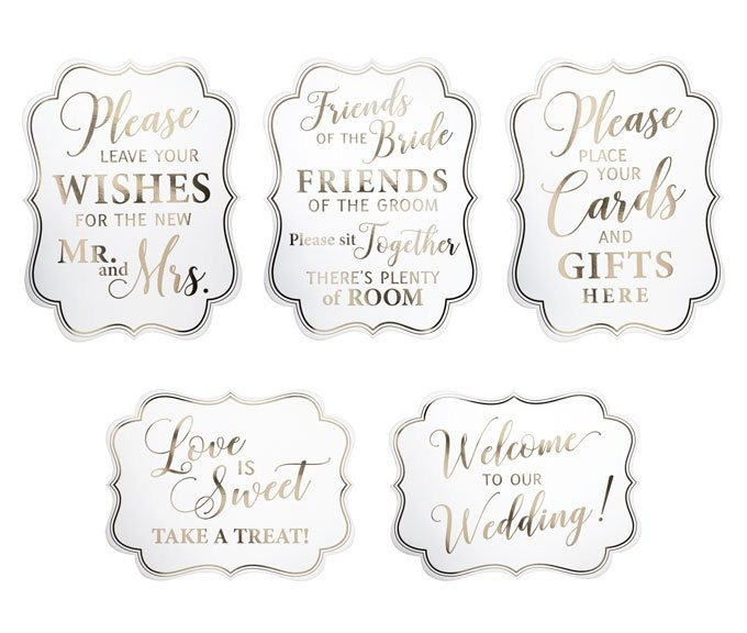 Wedding Signs - set of 5