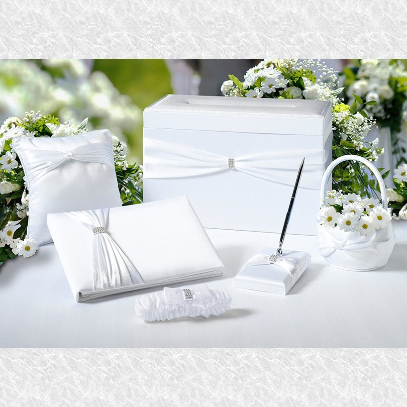 White Sash Wedding Set