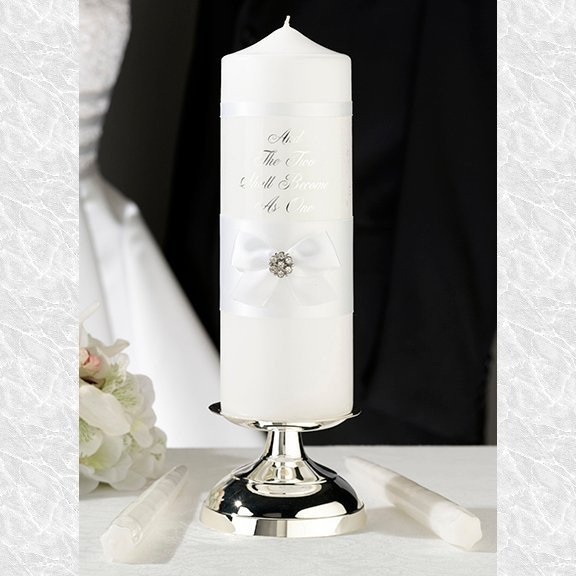 White Verse Candle Set