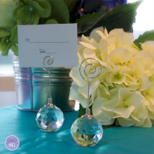 Crystal Ball Place Card Holder with Stand