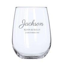 Script Stemless Wine Glass